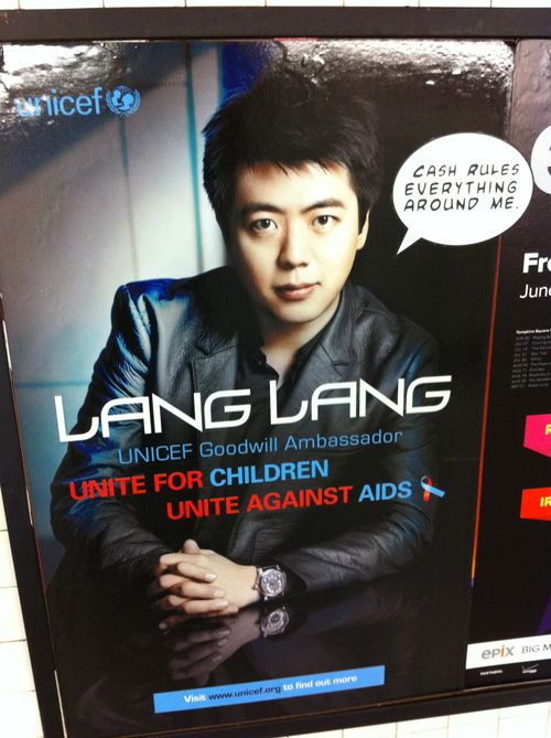 Lang Lang Tagged Subway Poster