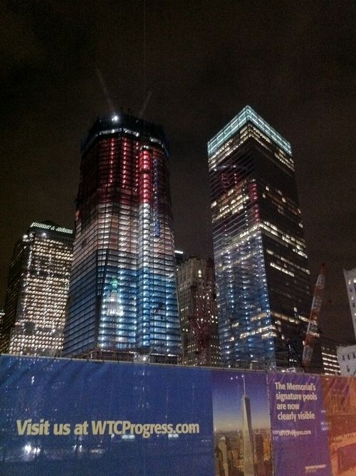 Freedom Tower Red White and Blue